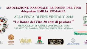 Le Donne del Vino dell'Emilia Romagna alla Cena di fine Vinitaly 2018