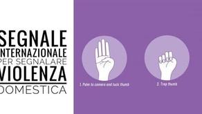 Un segnale  può salvare una donna dalla violenza domestica.