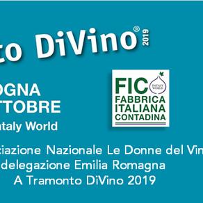 Le Donne del Vino dell'Emilia Romagna a Tramonto DiVino - FICO Bologna 20 ottobre 2019