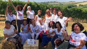 Le Donne del Vino ER in visita alla Cantina Podere dell'Angelo  della socia Milena Falcioni.