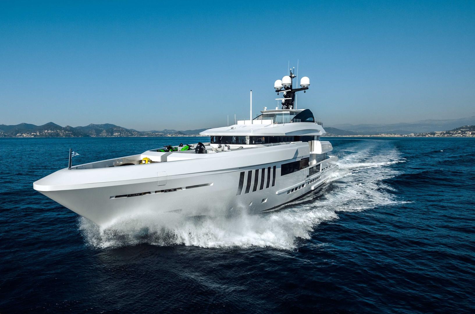 Yacht OURANOS - 50m Admiral, underway