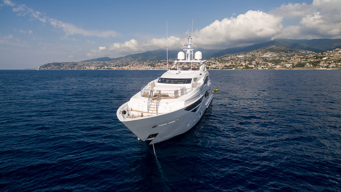 Yacht LADY M - at anchor