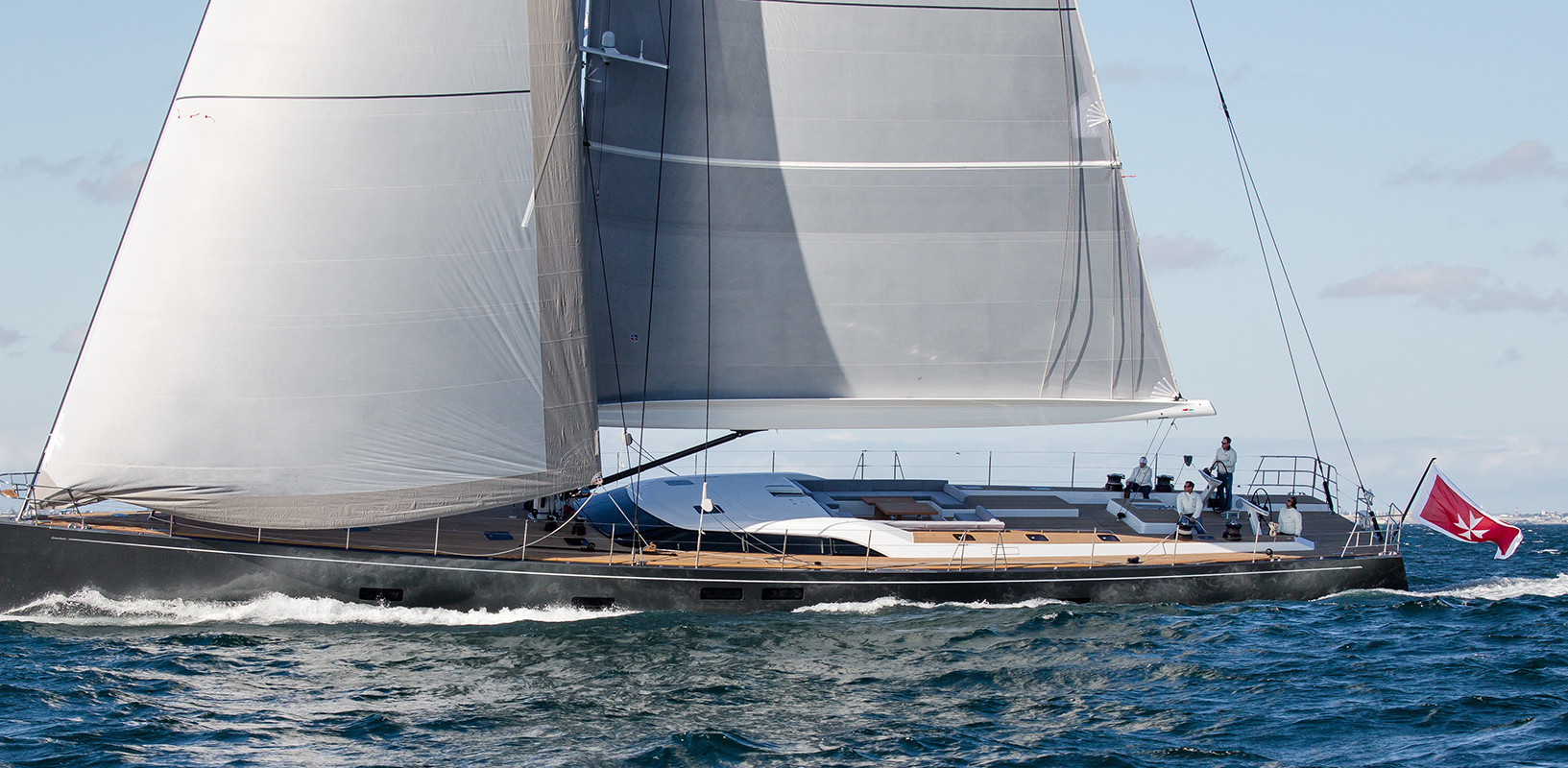 Sailing Yacht CROSSBOW - under full sail