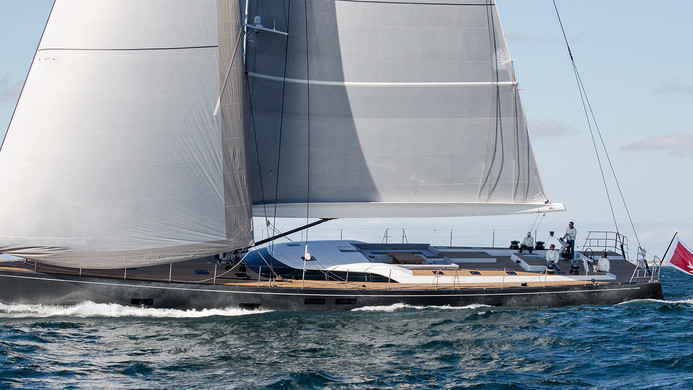 Sailing Yacht CROSSBOW - under full sail