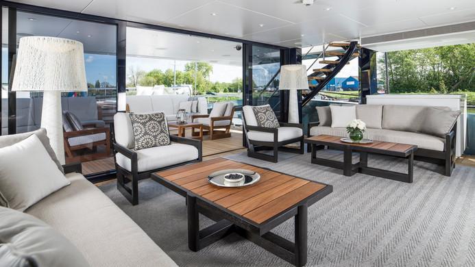 Yacht IRISHA - aft deck