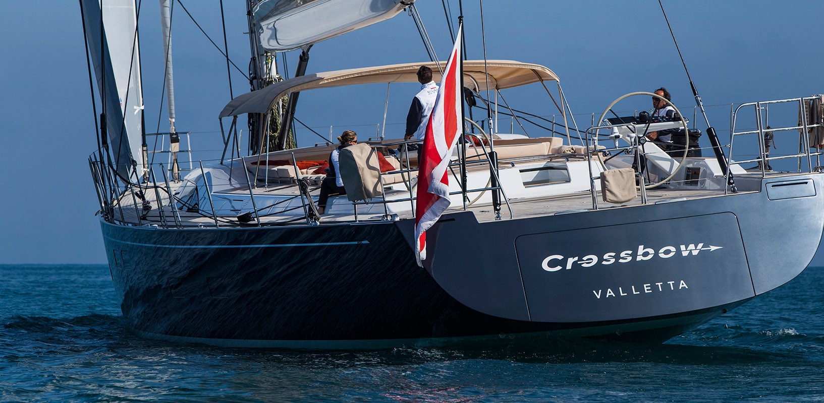 Sailing Yacht CROSSBOW - underway