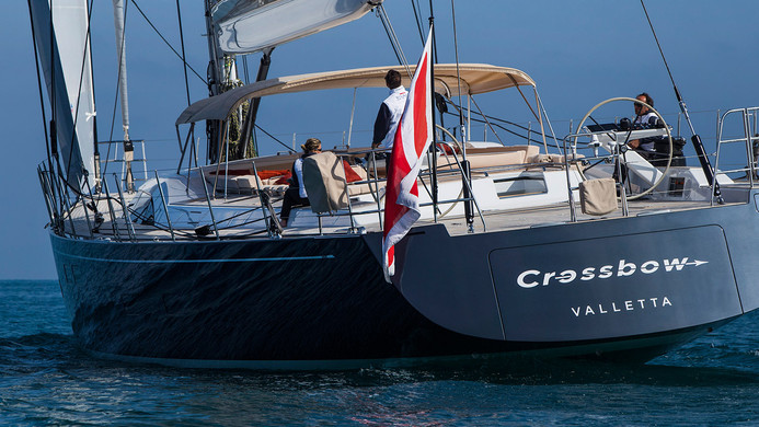 Sailing Yacht CROSSBOW - underway