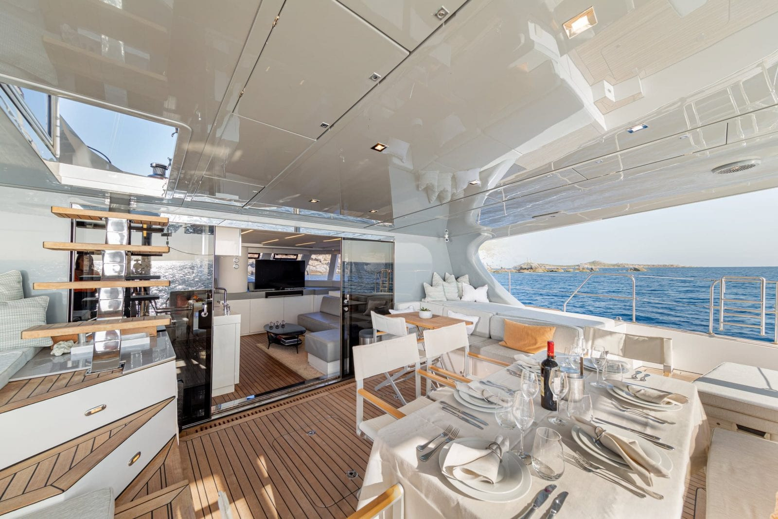 ADEA - aft deck, up to the fly bridge