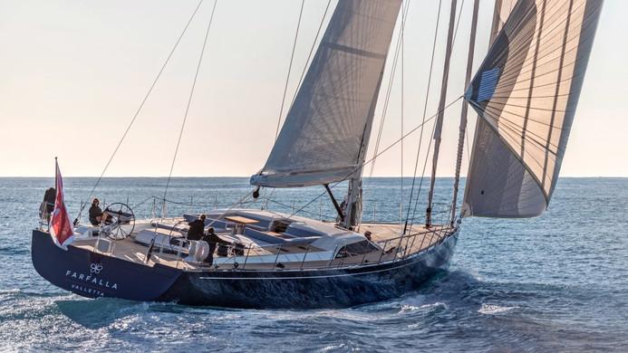 Sailing Yacht FARFALLA - underway full sail
