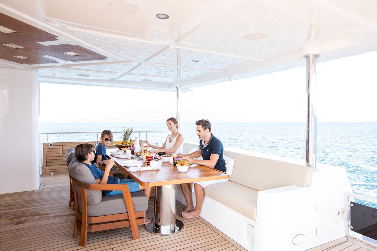 Yacht MIA - aft deck