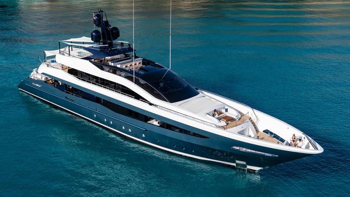 Yacht IRISHA - at anchor