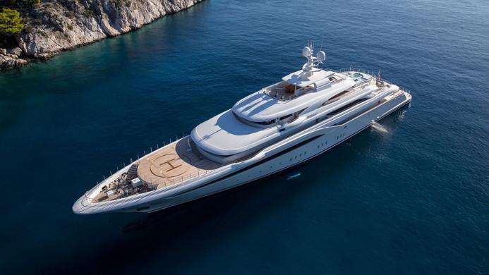 Mega Yacht O'PTASIA - at anchor