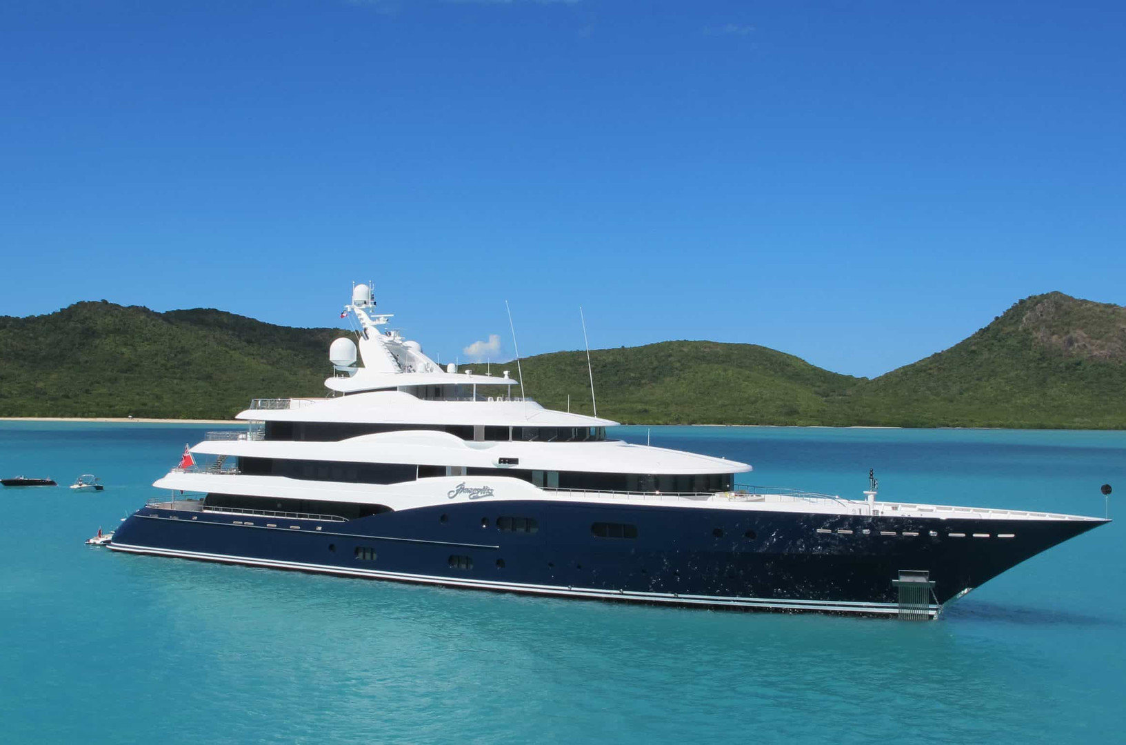 Yacht AMARYLLIS - at anchor on charter in the Caribbean