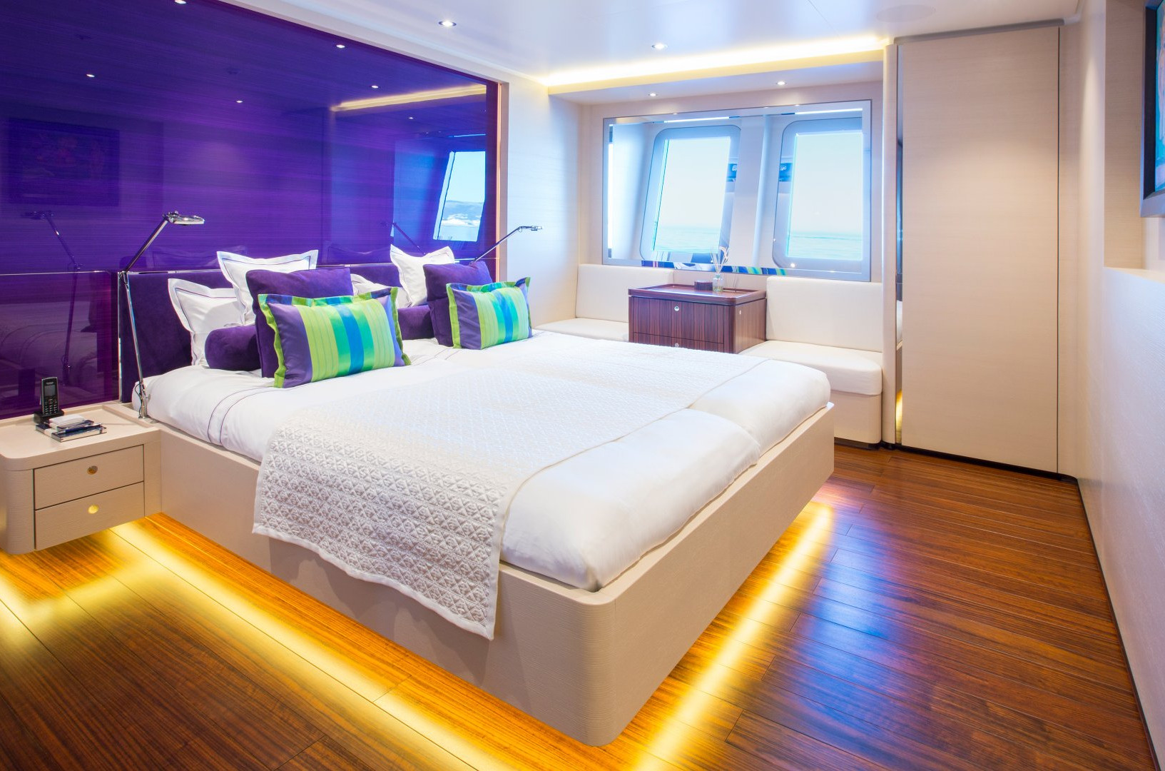 Yacht AQUIJO - Guest cabin. King size bed