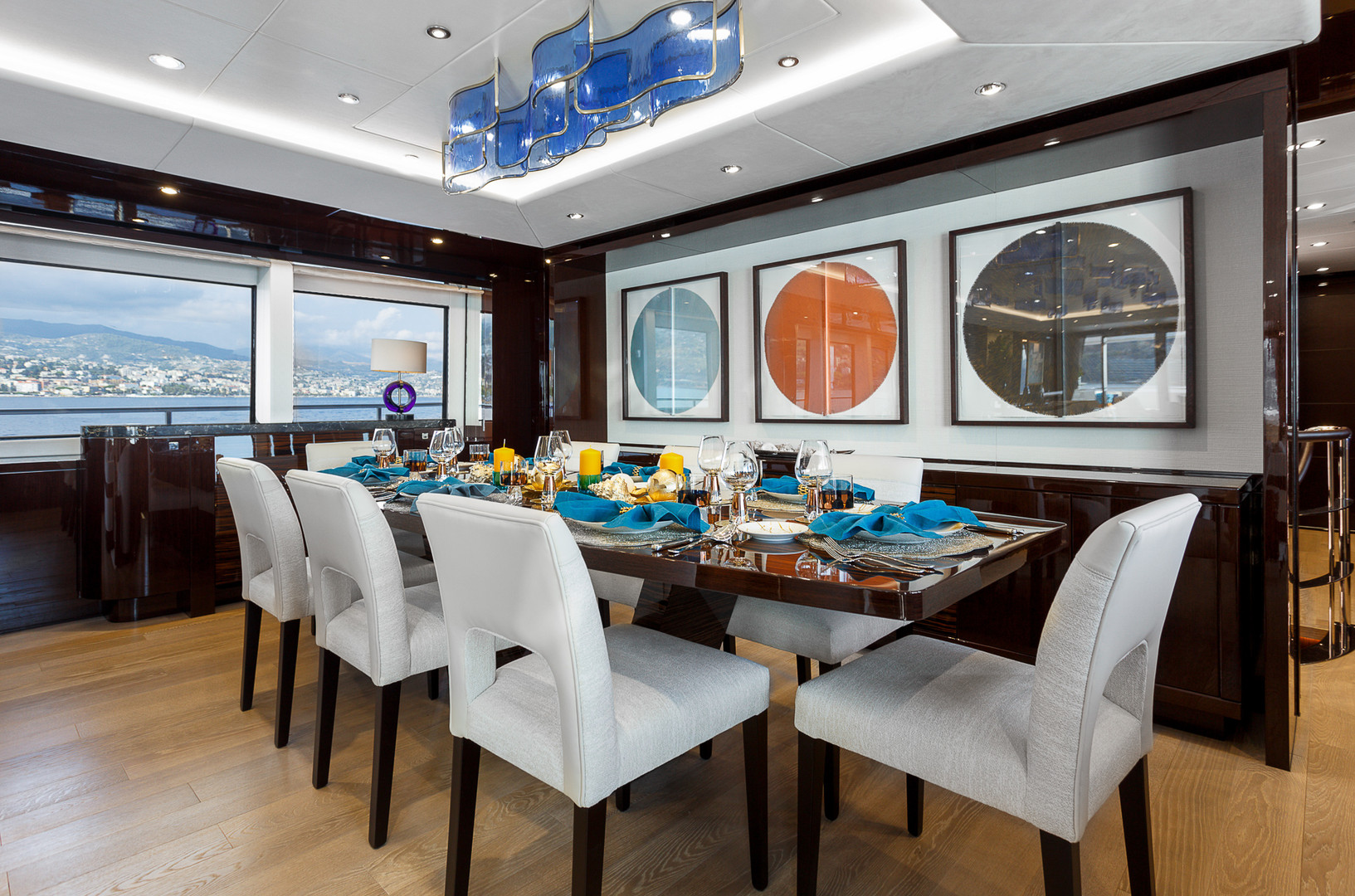 Yacht LADY M - formal dining