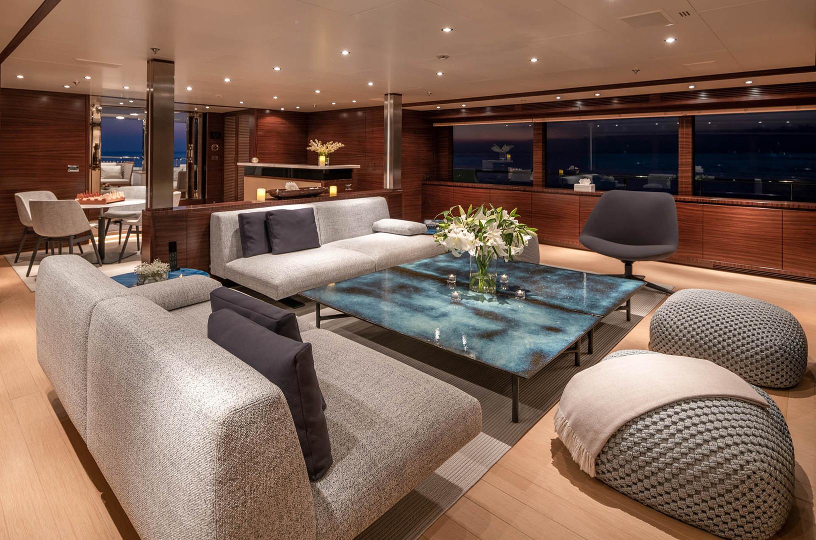 Yacht ATLAS - main saloon
