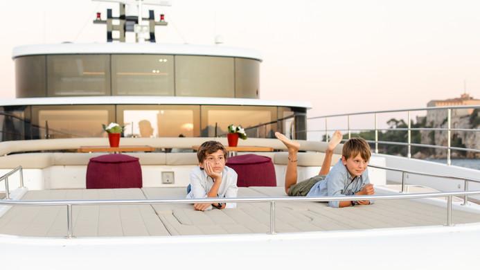 Family mega yacht charter