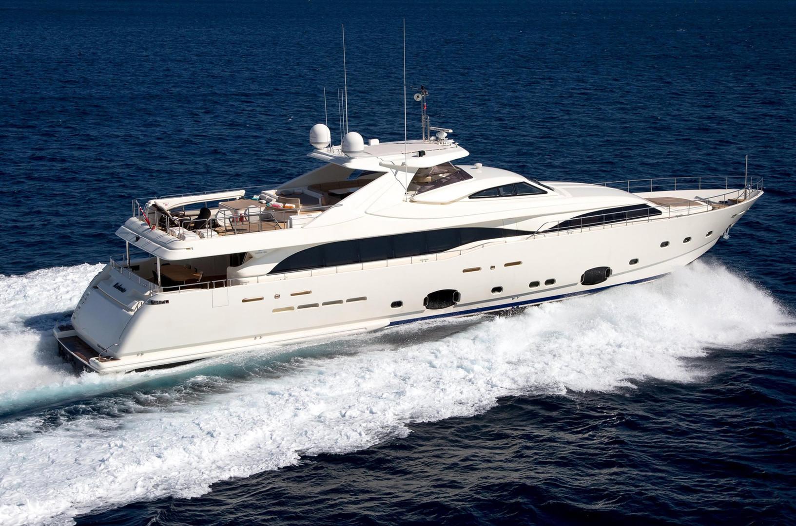 Charter Yacht ROBUSTO, cruising along the coastline