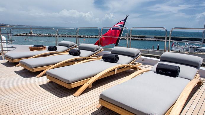 Yacht PRINCESS AVK - sun deck