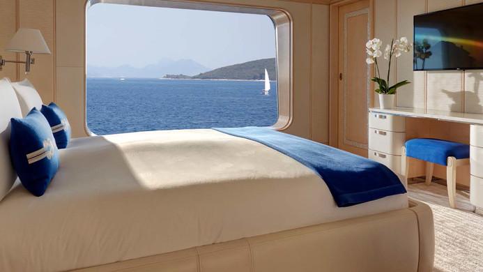 Yacht AQUARIUS - guest cabins