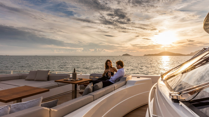 Sundowners on the foredeck