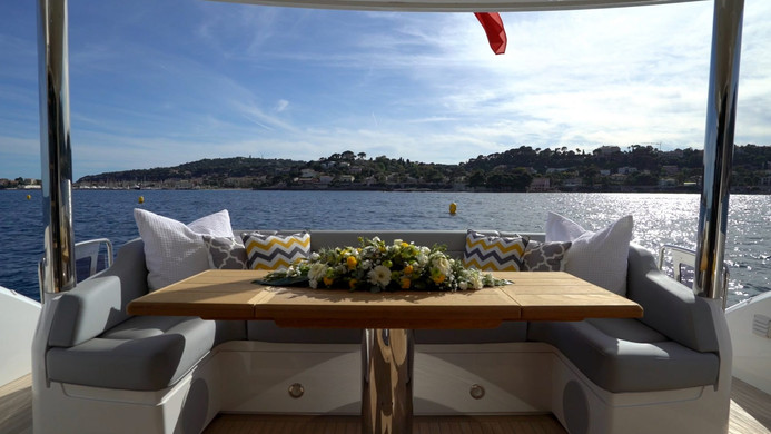 Yacht HERO - aft deck