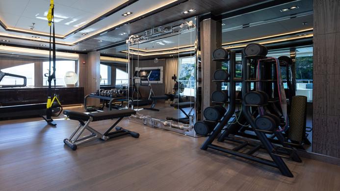 Mega Yacht O'PTASIA - gym