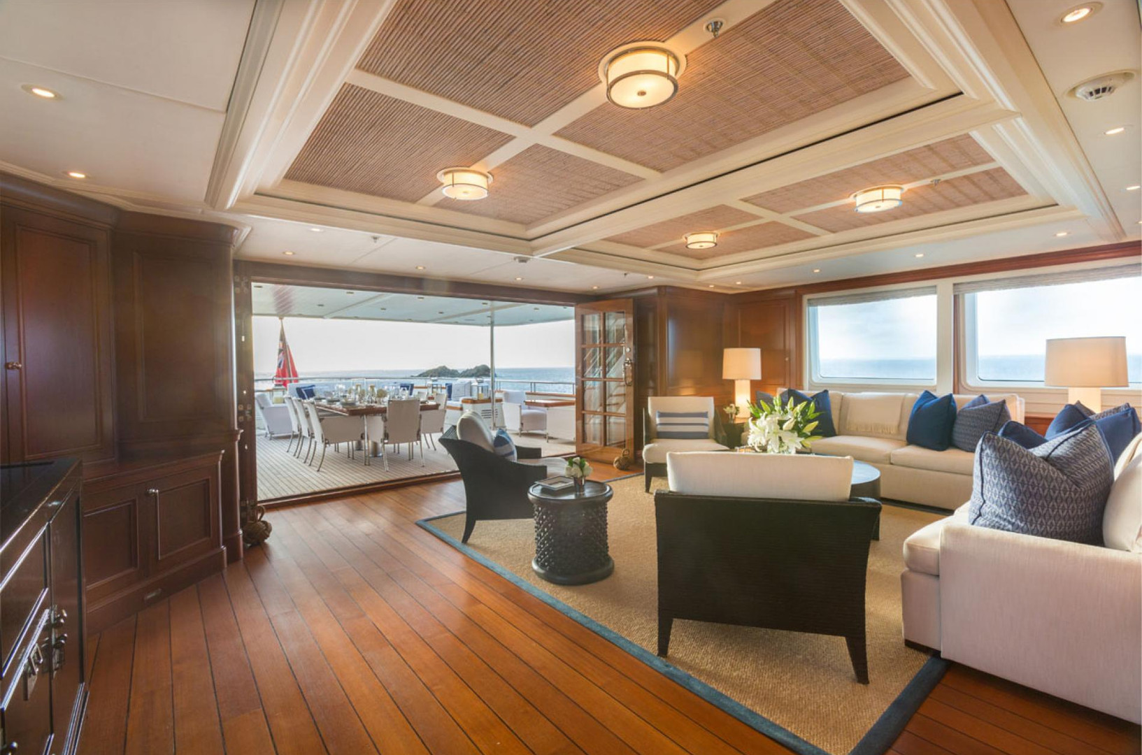 Yacht FABULOUS CHARACTER - bridge deck looking aft