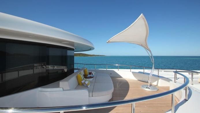 Yacht AMARYLLIS foredeck lounging