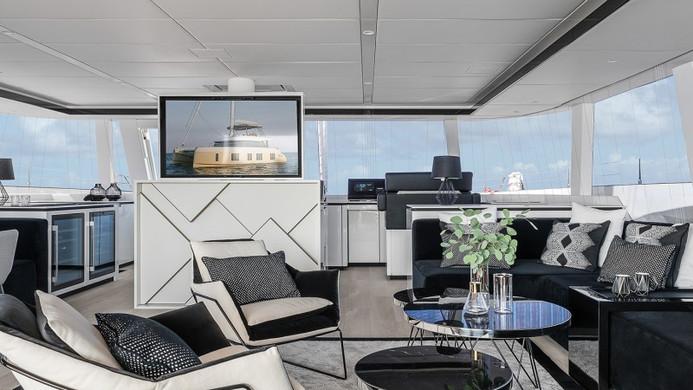 Yacht ABOVE Sunreef 80 - main saloon