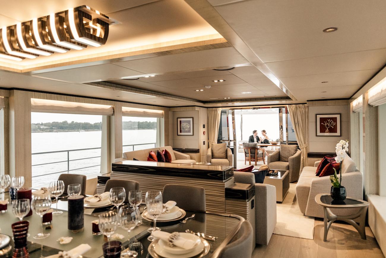Yacht MIA - formal dining