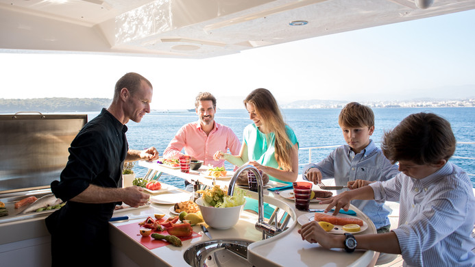 Catering on a yachting event