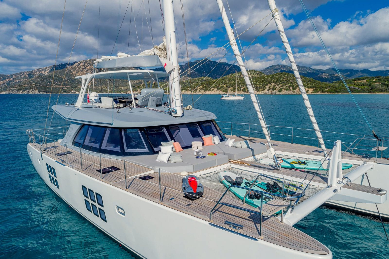 ADEA - Sunreef 62 sailing yacht, set up for charter guests