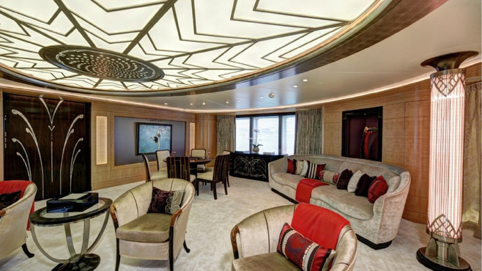 Yacht AMARYLLIS - interior art deco