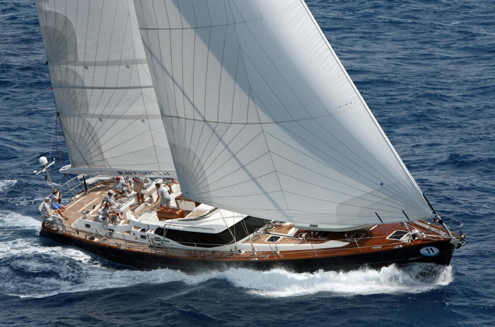 Sailing yacht RAVEN - cruising under full sail