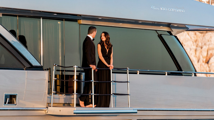 Yacht hire for an evening sunset cruise