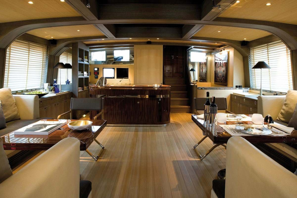 Sailing Yacht ROXANE - saloon looking forward