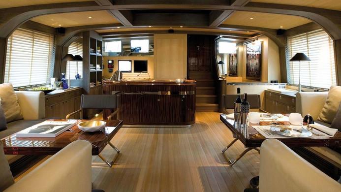Sailing Yacht ROXANE - saloon looking forward