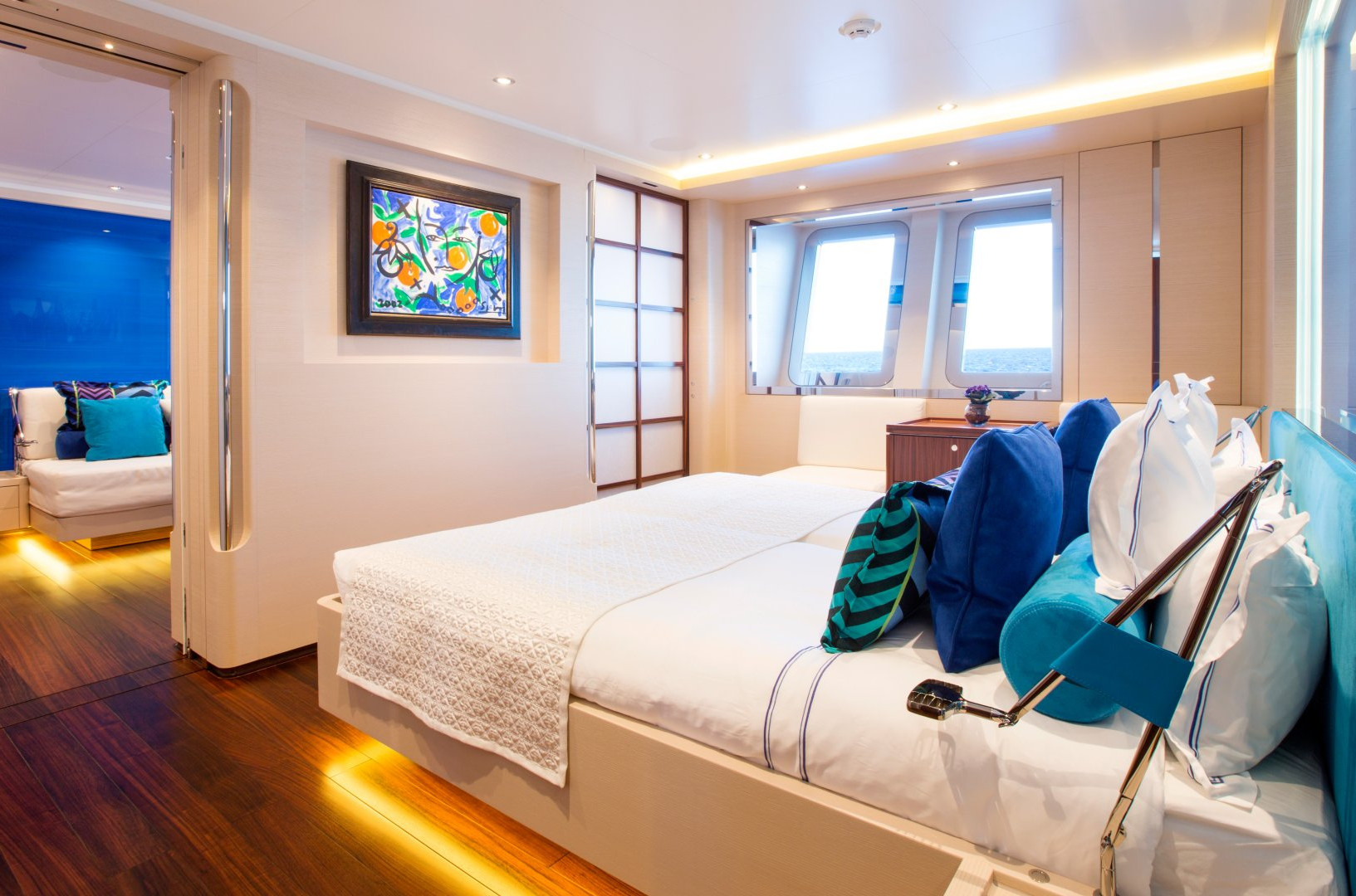 Yacht AQUIJO - Guest cabin. Very light, spacious, and open