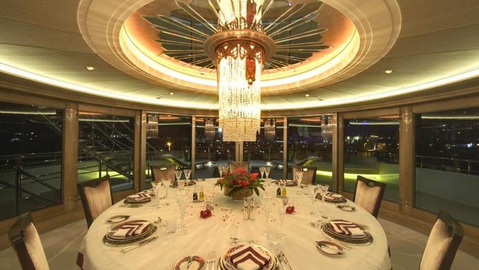 Yacht AMARYLLIS - formal dinning experience
