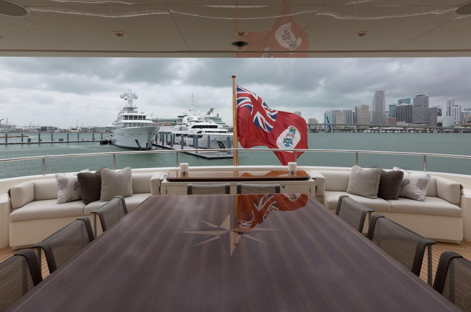 Yacht SAFIRA - bridge deck