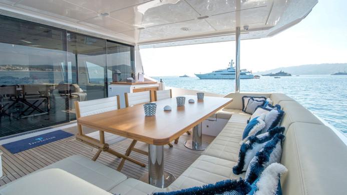 Yacht INVICTUS - aft deck