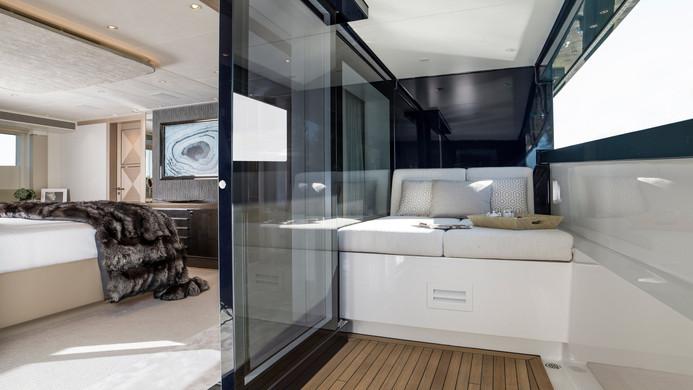 Yacht IRISHA - master cabin private deck and balcony