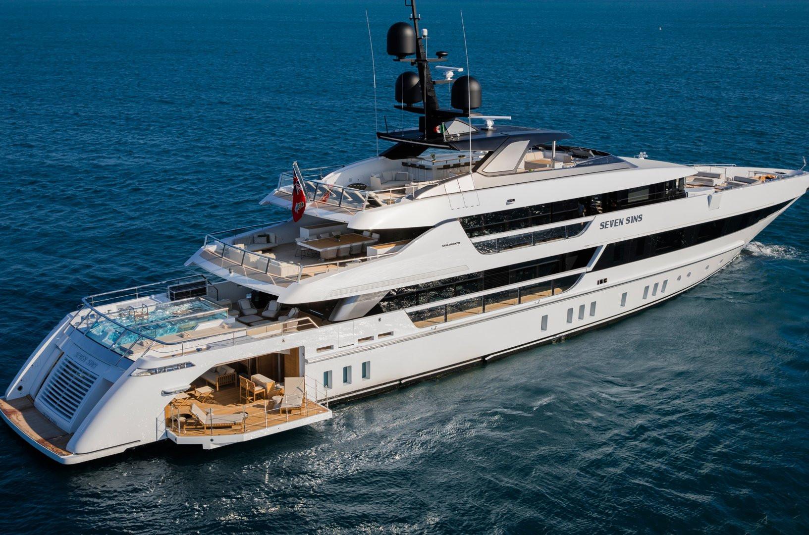 Yacht SEVEN SINS - at anchor