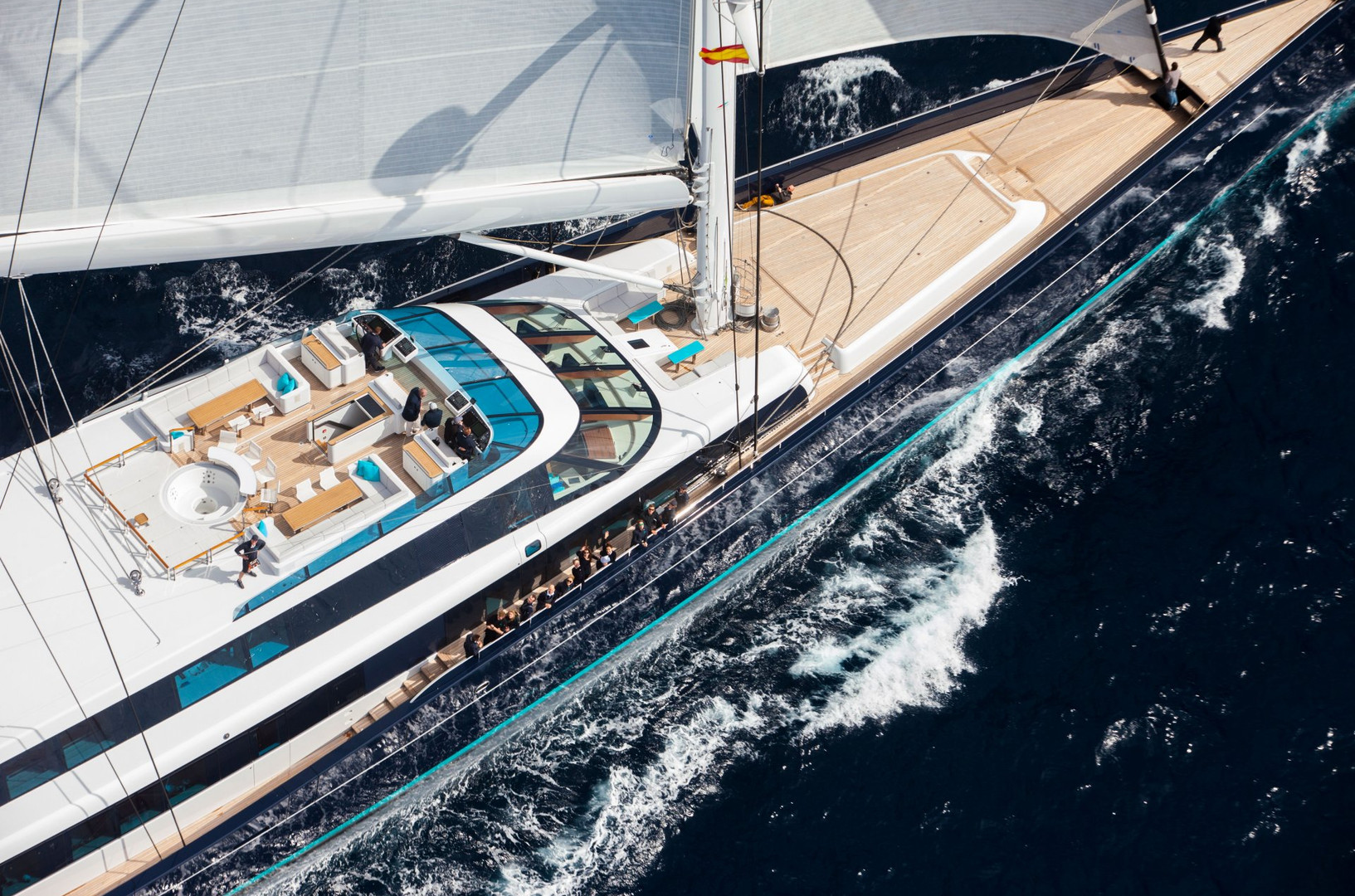 Sailing Yacht AQUIJO - 86m mega yacht sailing on charter in the Med