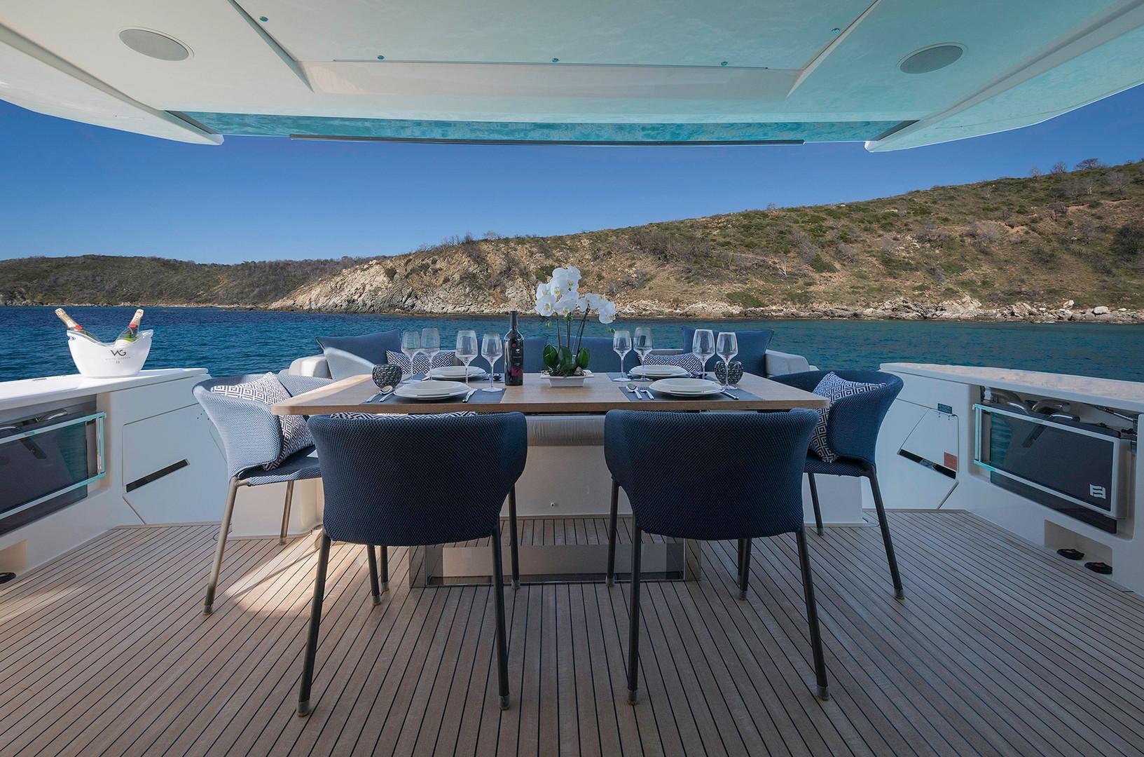 Yacht EPIC - aft deck