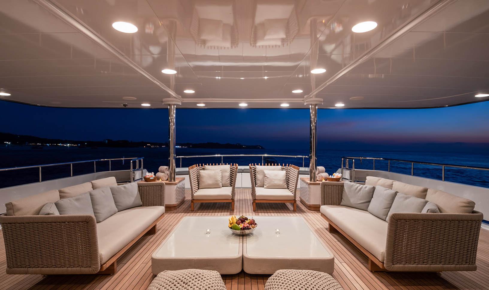 Yacht ATLAS - aft deck