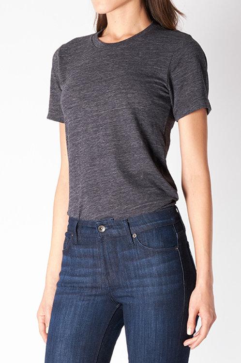 Charcoal Cotton Slub T-Shirt