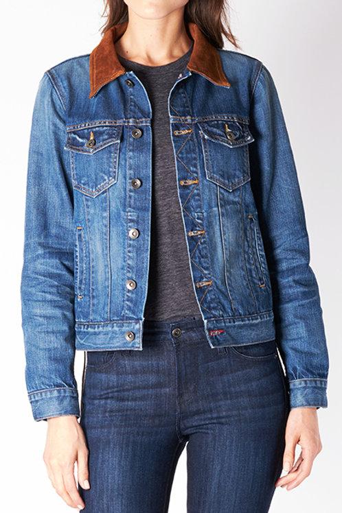 Denim & Leather Western Jacket