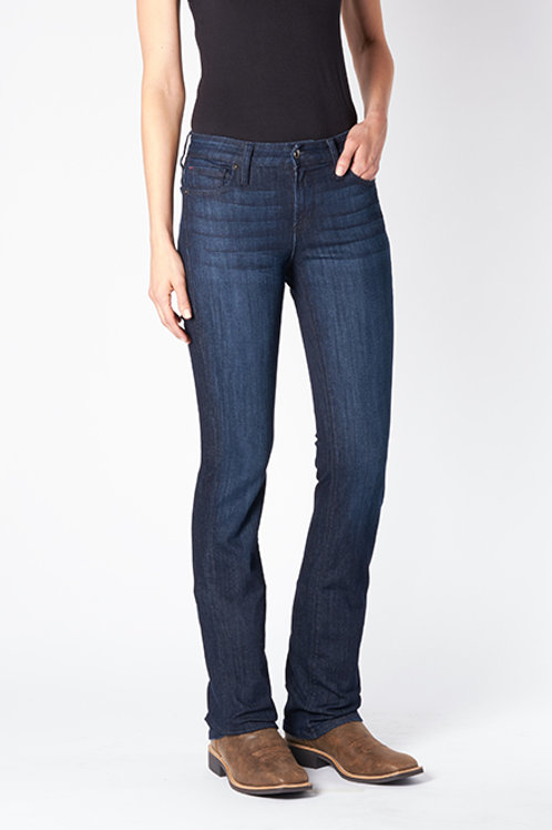 WESTERLY (Straight) Performance Stretch Riding Jean. Deep Ocean Wash